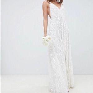 ASOS Bridal Joni cami sequin wedding dress